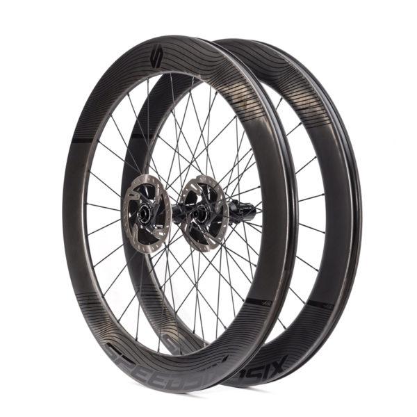 Rodas carbono triatlo pneu disco speedsix air 65